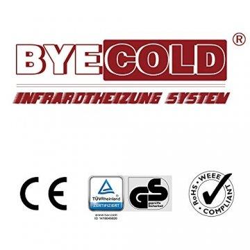Byecold Infrarotheizung mit Schalter Infrarot Elektrische Wandheizung Infrarotheizplatte Heizung 580W Energiesparende Ferninfrarot Heizplatte Überhitzungsschutz Carbon Crystal Heizgerät mit RoHS CE GS - 9