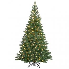 Casaria Weihnachtsbaum 140 cm LED Lichterkette Edeltanne Ständer künstlicher Tannenbaum Christbaum Weihnachten PE Grün - 1