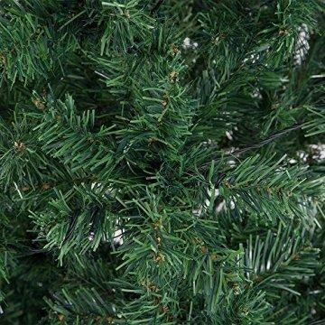 Casaria Weihnachtsbaum 150 bis 180 cm Ständer LED Lichterkette künstlicher Tannenbaum Weihnachten Baum PVC Grün 150 cm - 3