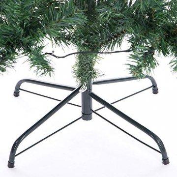 Casaria Weihnachtsbaum 150 bis 180 cm Ständer LED Lichterkette künstlicher Tannenbaum Weihnachten Baum PVC Grün 150 cm - 6