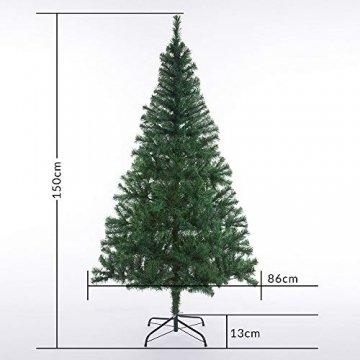Casaria Weihnachtsbaum 150 bis 180 cm Ständer LED Lichterkette künstlicher Tannenbaum Weihnachten Baum PVC Grün 150 cm - 7