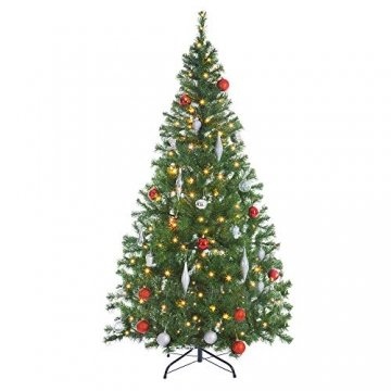 Casaria Weihnachtsbaum 150 bis 180 cm Ständer LED Lichterkette künstlicher Tannenbaum Weihnachten Baum PVC Grün 150 cm - 8