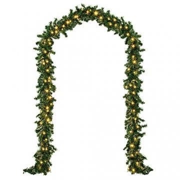 Casaria Weihnachtsgirlande 5m Girlande 100 LEDs Weihnachten Innen Außen IP44 Weihnachtsdeko Tannengirlande warmweiß - 2