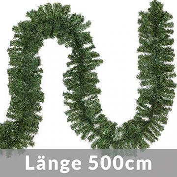 Casaria Weihnachtsgirlande 5m Girlande 100 LEDs Weihnachten Innen Außen IP44 Weihnachtsdeko Tannengirlande warmweiß - 4