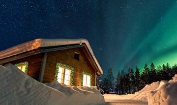 Casaria Weihnachtsgirlande 5m Girlande 100 LEDs Weihnachten Innen Außen IP44 Weihnachtsdeko Tannengirlande warmweiß - 6