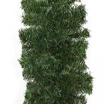 Casaria Weihnachtsgirlande 5m Girlande 100 LEDs Weihnachten Innen Außen IP44 Weihnachtsdeko Tannengirlande warmweiß - 7