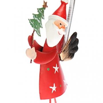 com-four® 2-teilges Hängedeko Set aus Metall - Weihnachtsmannfigur und Schneemannfigur zum Aufhängen - weihnachtliche Dekoration - Weihnachtsdeko - 2