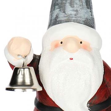 com-four® Weihnachtsmannfigur aus Keramik - dekorativer Santa zum Hinstellen mit Glocke - Dekofigur zu Weihnachten - 24 cm (Weihnachtsmann mit Glocke) - 4