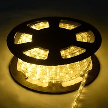 COSTWAY 10M LED Lichterschlauch Lichterkette Außen und Innen mit 360 LEDs Weihnachtsbeleuchtung Lichtschlauch Weihnachten Deko (Warmweiß) - 3