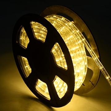 COSTWAY 10M LED Lichterschlauch Lichterkette Außen und Innen mit 360 LEDs Weihnachtsbeleuchtung Lichtschlauch Weihnachten Deko (Warmweiß) - 5