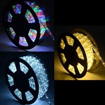 COSTWAY 10M LED Lichterschlauch Lichterkette Außen und Innen mit 360 LEDs Weihnachtsbeleuchtung Lichtschlauch Weihnachten Deko (Warmweiß) - 7