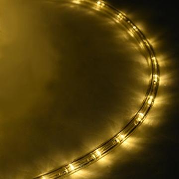 COSTWAY 10M LED Lichterschlauch Lichterkette Außen und Innen mit 360 LEDs Weihnachtsbeleuchtung Lichtschlauch Weihnachten Deko (Warmweiß) - 8