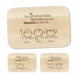 Crazy Kitchen Casa Vivente Frühstücksbrettchen mit Gravur – Gute Gründe – Personalisiert mit Namen – Brettchen aus Ahornholz – Brotbrett aus hellem Holz – Geschenkideen für Oma – Geburtstagsgeschenk - 1