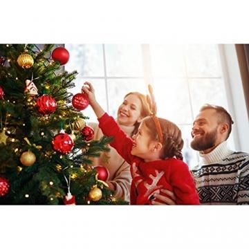 Deitert Weihnachtskugel mit Wunschtext Gravur, Ø 8cm, Personalisierte Christbaumkugel aus Glas (matt), Individueller Weihnachtsbaumschmuck Namen oder Spruch, Rot - 5
