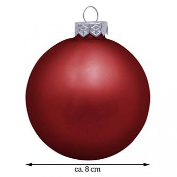 Deitert Weihnachtskugel mit Wunschtext Gravur, Ø 8cm, Personalisierte Christbaumkugel aus Glas (matt), Individueller Weihnachtsbaumschmuck Namen oder Spruch, Rot - 6