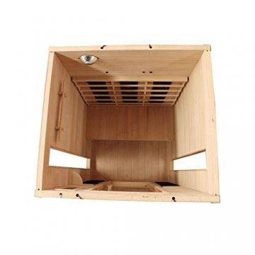 Dewello Infrarotkabine HYDER 115x105 für 1-2 Personen aus Hemlock Holz mit Vollspektrumstrahler - 4