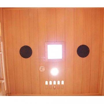 Dewello Infrarotkabine HYDER 115x105 für 1-2 Personen aus Hemlock Holz mit Vollspektrumstrahler - 5