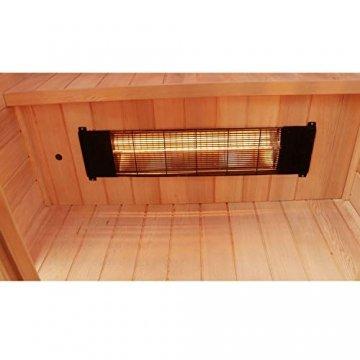 Dewello Infrarotkabine HYDER 115x105 für 1-2 Personen aus Hemlock Holz mit Vollspektrumstrahler - 6
