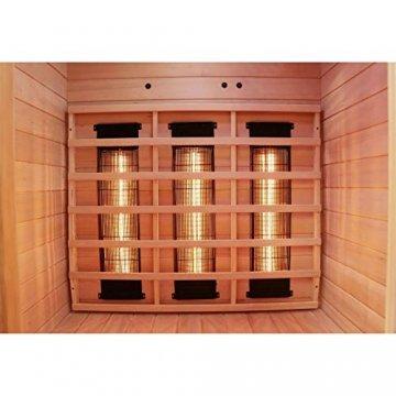 Dewello Infrarotkabine HYDER 115x105 für 1-2 Personen aus Hemlock Holz mit Vollspektrumstrahler - 7