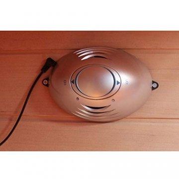 Dewello Infrarotkabine HYDER 115x105 für 1-2 Personen aus Hemlock Holz mit Vollspektrumstrahler - 8
