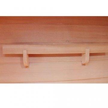 Dewello Infrarotkabine HYDER 115x105 für 1-2 Personen aus Hemlock Holz mit Vollspektrumstrahler - 9