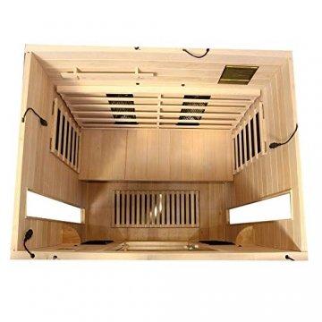 Dewello Infrarotkabine PIERSON 135x105 DUAL-THERM für 1-2 Personen aus Hemlock Holz mit Vollspektrumstrahler - 7