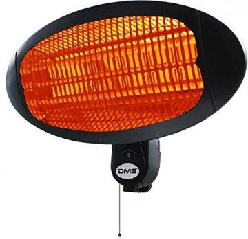 DMS® 2in1 Stand Infrarotstrahler   2000 Watt   Heizstrahler   Standheizer   Terrassenstrahler   Wärmestrahler   Innen- und Außenbereich   Wandhalterung   Heizkörper   3 Heizstufen SH-2000 - 7