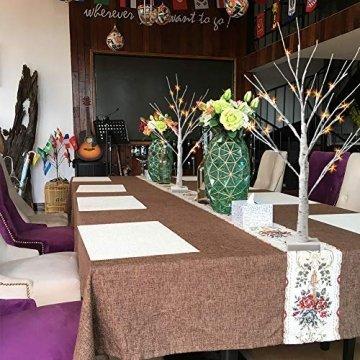 EAMBRITE 2er Set Lichterbaum Lichterzweige für Innen 24 Warmweiß LEDs Bäumchen Birken Dekozweige Batteriebetrieb Weihnachtsdeko für Zuhause Party Geburtstag Hochzeit Innendekoration (60cm/2ft) - 5