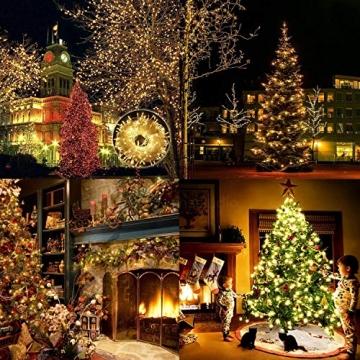 Elegear Lichterkette Außen 100M 500 LEDs Warmweiß 8 Modi LED Weihnachtsbeleuchtung Strombetrieb Weihnachten Deko für Innen Außen Neujahr Weihnachtsbaum Geburtstag Feiertag Party Hotel Garten Hochzeit - 5