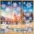 Fensterbilder Weihnachten, 228 Schneeflocken Fenstersticker, Weihnachtsdeko Fenster,Fensteraufkleber PVC Fensterdeko Selbstklebend, für Türen Schaufenster Vitrinen Glasfronten Deko - 1