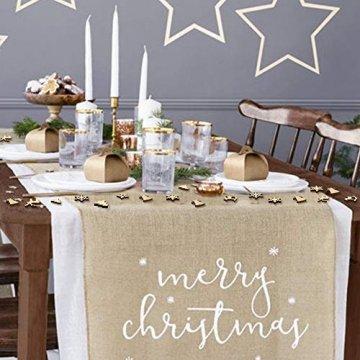 FHzytg 250 Stück Holzsterne Streudeko Weihnachten Holz, Schneeflocken Deko Sterne Holz Streuteile Weihnachten, Streuartikel Holz Weihnachten Deko Holzsterne Schneeflocken Mini - 6
