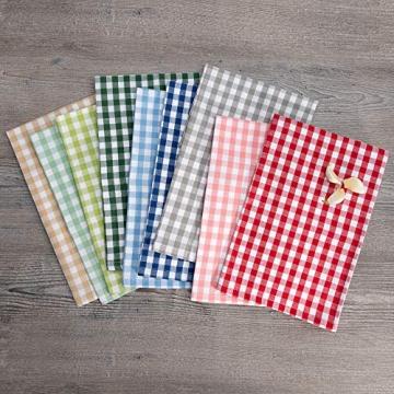FILU Servietten 8er Pack Rot/Weiß kariert (Farbe und Design wählbar) 45 x 45 cm - Stoffserviette aus 100% Baumwolle im skandinavischen Landhausstil - 5