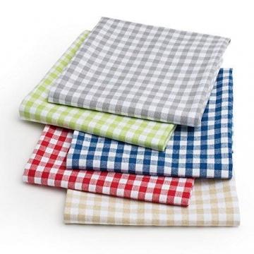 FILU Servietten 8er Pack Rot/Weiß kariert (Farbe und Design wählbar) 45 x 45 cm - Stoffserviette aus 100% Baumwolle im skandinavischen Landhausstil - 6
