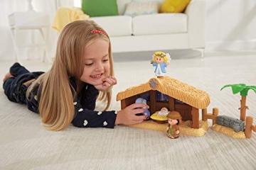 Fisher-Price J2404 - Little People Weihnachtskrippe Geschenkset, mit 12 Figuren und 5 Zubehörteilen, ab 12 Monaten - 3