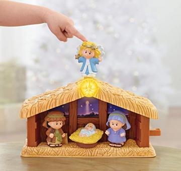 Fisher-Price J2404 - Little People Weihnachtskrippe Geschenkset, mit 12 Figuren und 5 Zubehörteilen, ab 12 Monaten - 4