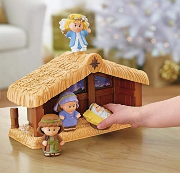 Fisher-Price J2404 - Little People Weihnachtskrippe Geschenkset, mit 12 Figuren und 5 Zubehörteilen, ab 12 Monaten - 5