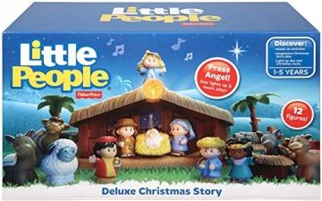 Fisher-Price J2404 - Little People Weihnachtskrippe Geschenkset, mit 12 Figuren und 5 Zubehörteilen, ab 12 Monaten - 6