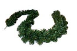 FKL Weihnachtsgirlande Dicke Tannengirlande Weihnachtsdeko Grüne Tannenzweige 300cm (280 Spitzen) - 1