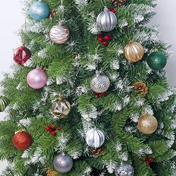FlyHigh 12er Set edle Weihnachtskugeln Ø 6cm Weihnachtsbaum Kugeln Christbaumkugeln Weihnachts-Deko Christbaum-Schmuck (Rosa) - 3