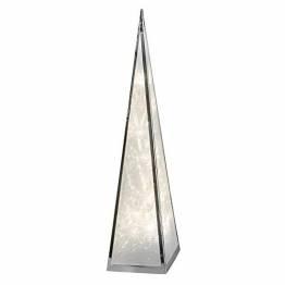 Formano beleuchtbare Deko-Pyramide aus Metall, 45 cm, mit 12 LEDs, 1 Stück, Silber, mit Drehmotor und Adapter - 1