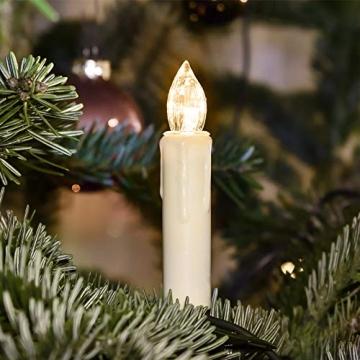 Froadp LED Flammenlose Baumkerzen Warmweiß Mini Weihnachtskerzen Batteriebetriebene Kerzen Satz Christbaumkerzen mit Fernbedienung Kabellos und Clips (30er Pack) - 6