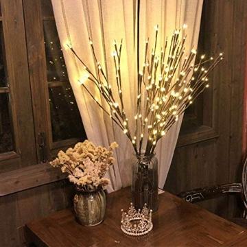 G-MORE Lichterkette, Lichterketten Innen Wandleuchte, Lichterbaum Aussen Innen 20LEDs Wasserdichte Lichterzweige, Weihnachtsbeleuchtung Deko für Hochzeit, Zimmer, Home, Garten, Party, 76CM (2 Pack) - 3