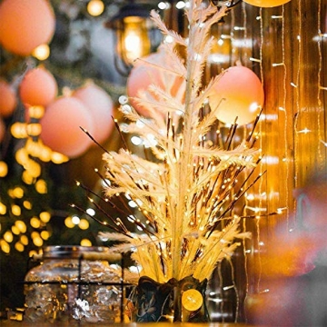 G-MORE Lichterkette, Lichterketten Innen Wandleuchte, Lichterbaum Aussen Innen 20LEDs Wasserdichte Lichterzweige, Weihnachtsbeleuchtung Deko für Hochzeit, Zimmer, Home, Garten, Party, 76CM (2 Pack) - 8