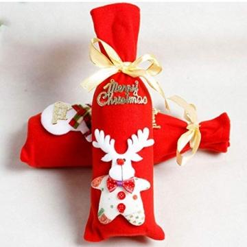 GGOOD Weihnachten Weinflasche Abdeckung Non-Woven-gewebe-Geschenk-Beutel Weihnachtstischdekoration Randomly Stilvolle - 2