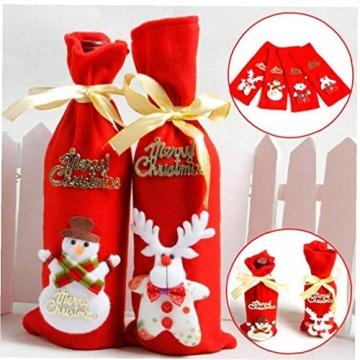 GGOOD Weihnachten Weinflasche Abdeckung Non-Woven-gewebe-Geschenk-Beutel Weihnachtstischdekoration Randomly Stilvolle - 3