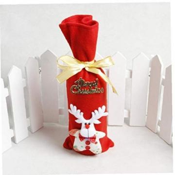 GGOOD Weihnachten Weinflasche Abdeckung Non-Woven-gewebe-Geschenk-Beutel Weihnachtstischdekoration Randomly Stilvolle - 4
