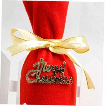 GGOOD Weihnachten Weinflasche Abdeckung Non-Woven-gewebe-Geschenk-Beutel Weihnachtstischdekoration Randomly Stilvolle - 5