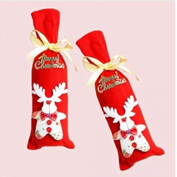 GGOOD Weihnachten Weinflasche Abdeckung Non-Woven-gewebe-Geschenk-Beutel Weihnachtstischdekoration Randomly Stilvolle - 6