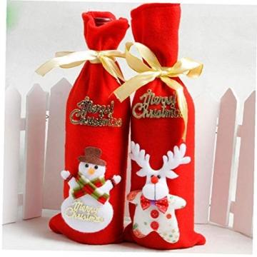 GGOOD Weihnachten Weinflasche Abdeckung Non-Woven-gewebe-Geschenk-Beutel Weihnachtstischdekoration Randomly Stilvolle - 7