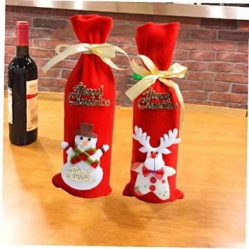 GGOOD Weihnachten Weinflasche Abdeckung Non-Woven-gewebe-Geschenk-Beutel Weihnachtstischdekoration Randomly Stilvolle - 9